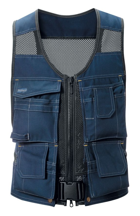 Skillers Flexi Tool Vest Super Canvas Navy Blue Discontinued J