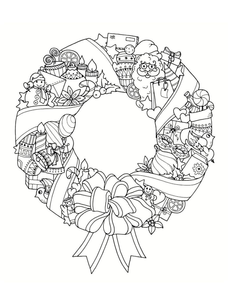 14 Bon Coloriage Noel Pictures Mandala Noel Couronne De Noel Dessin Coloriage Noel
