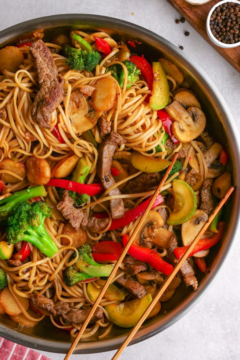 Beef Lo Mein Recipe In 2020 Healthy Vegetables Homemade Spagetti Sauce Meals