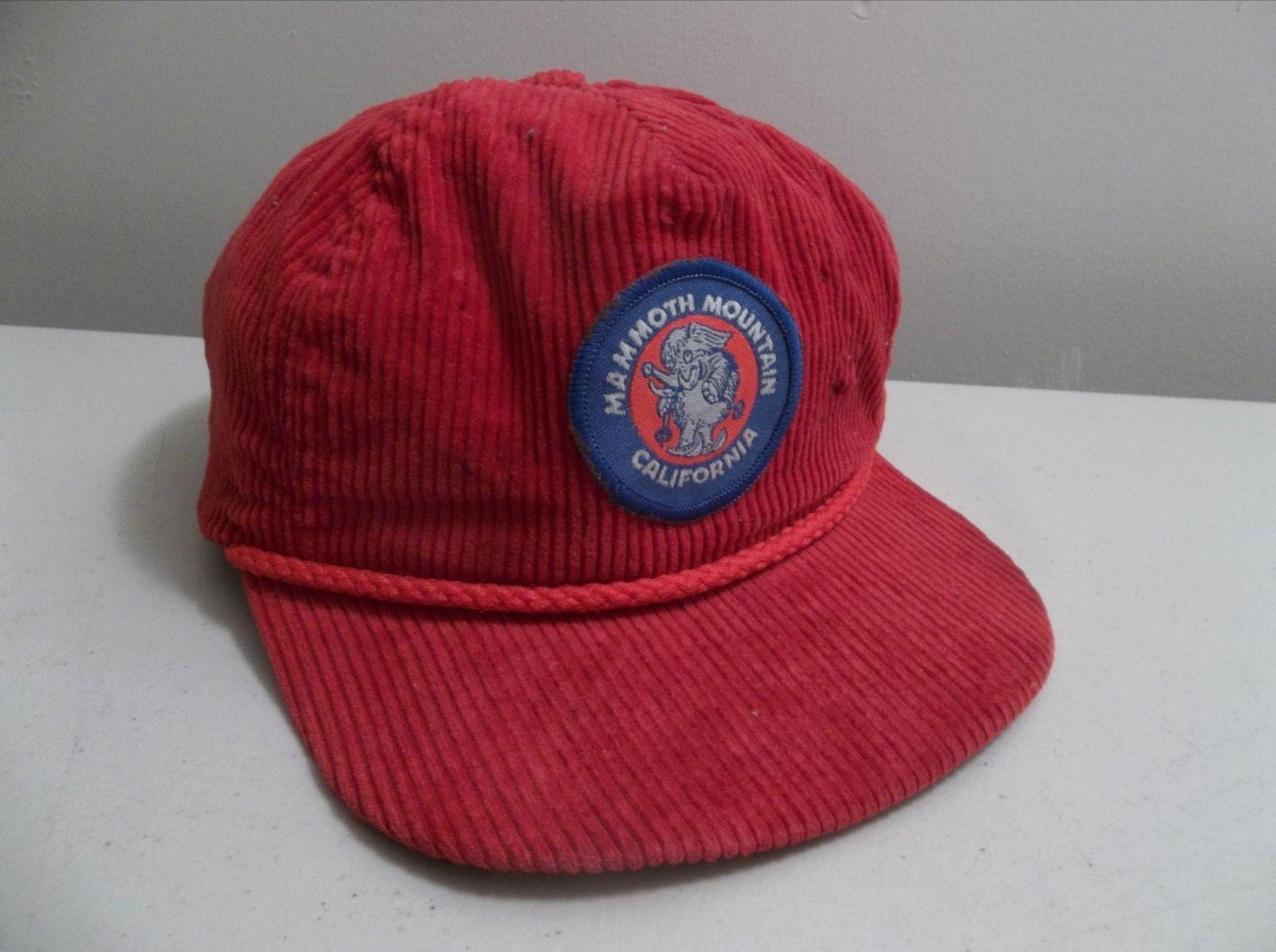 Vintage 1980 s Mammoth Mountain Ski Resort Corduroy Hat Cap  847f4e07851