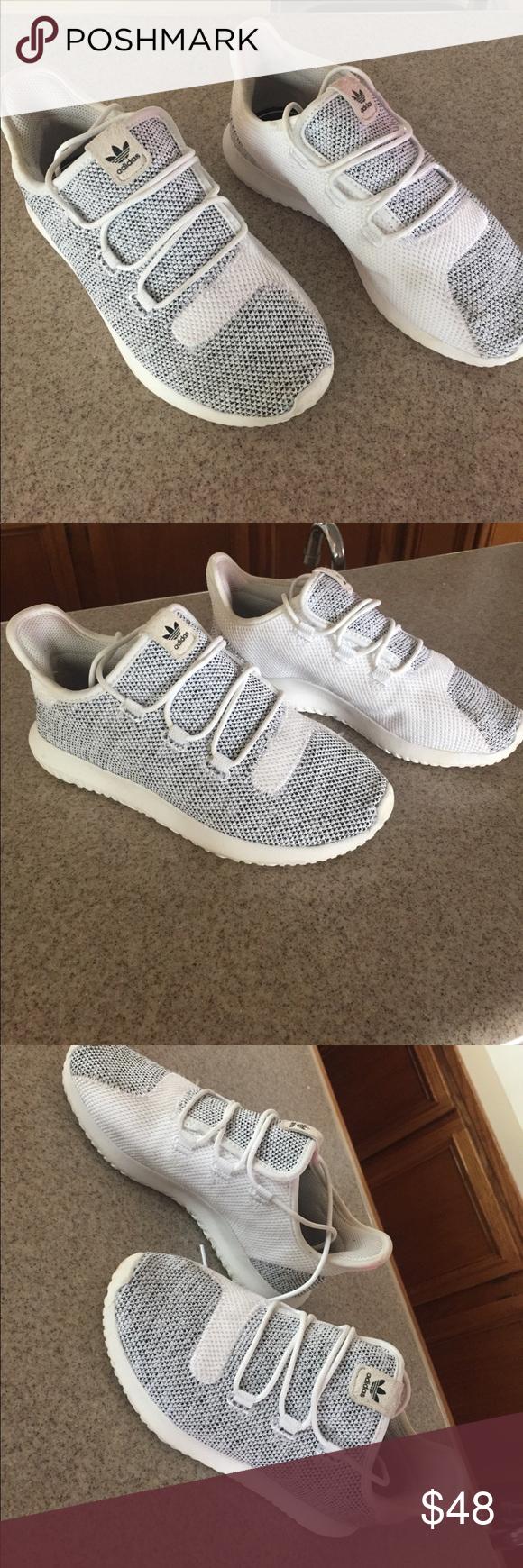 adidas tubuläre schatten stricken white