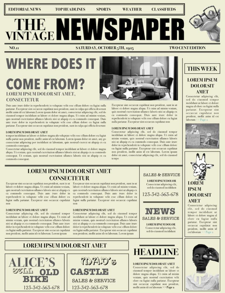 Newspaper Layout Newspaper Format Newspaper Generator Free With Regard To Old Newspaper Template Wo Newspaper Template Word Newspaper Layout Newspaper Template