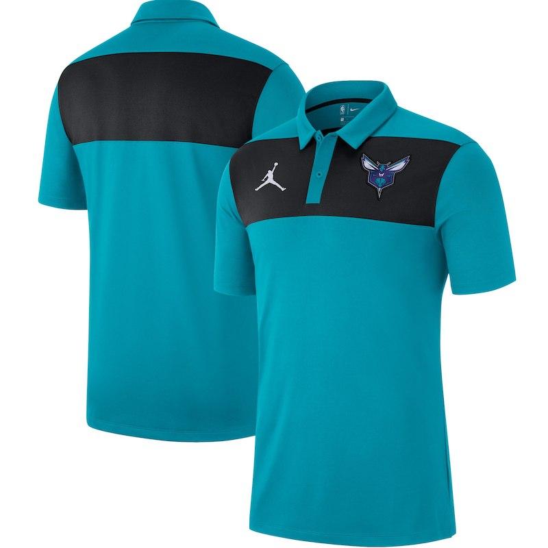 6f6ce7ee8 Men s Brand Jordan Aqua Charlotte Hornets Therma Flex Showtime Full-Zip  Hoodie