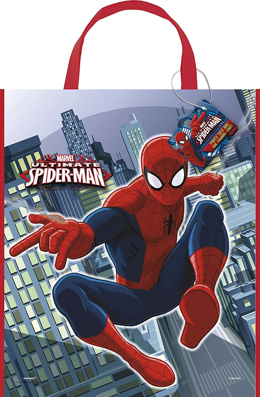 Large plastic spiderman loot bag 13x11 amazonca toys