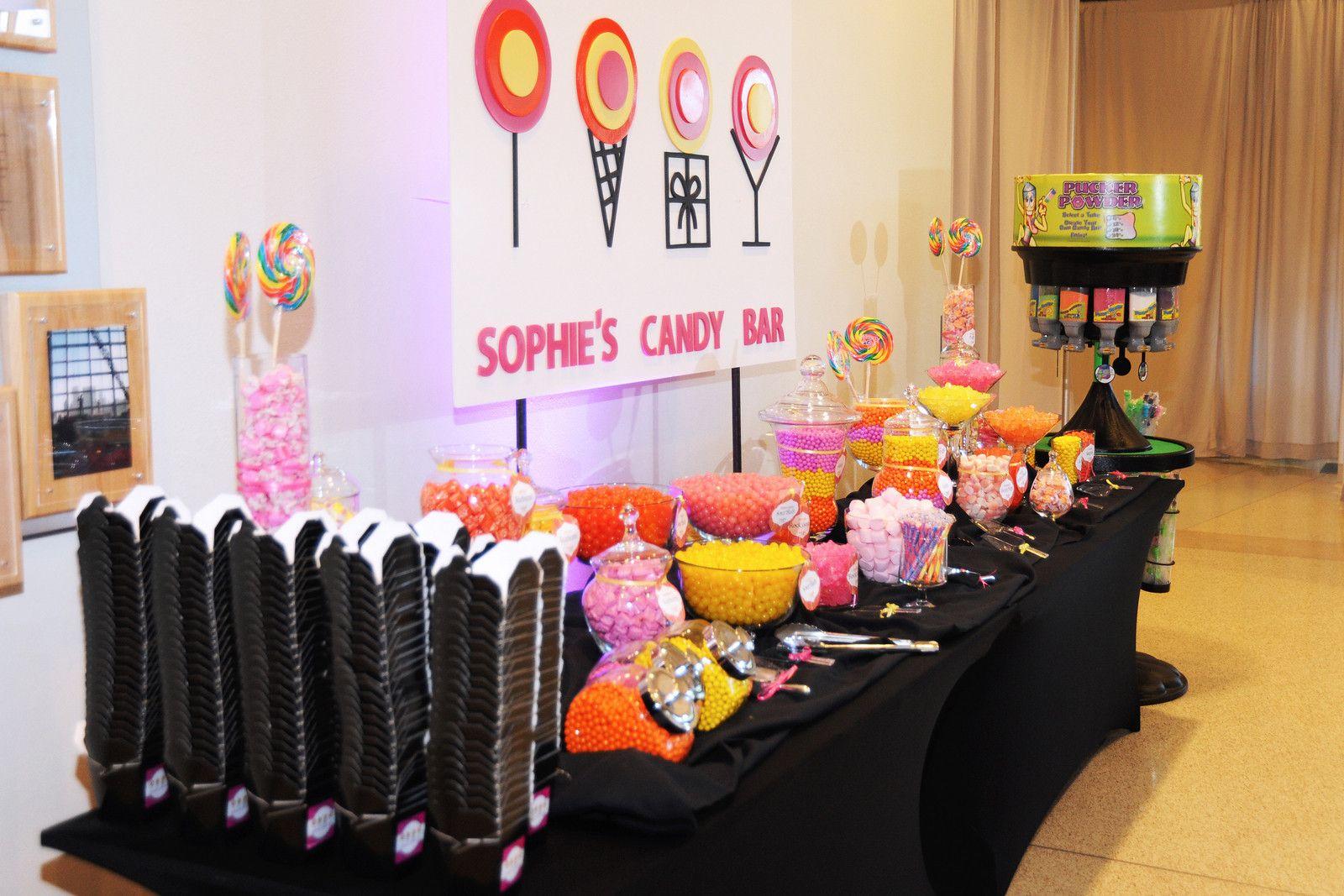 Candy buffet ideas for sweet sixteen - Sweet Sixteen Barmitza Candy Buffet