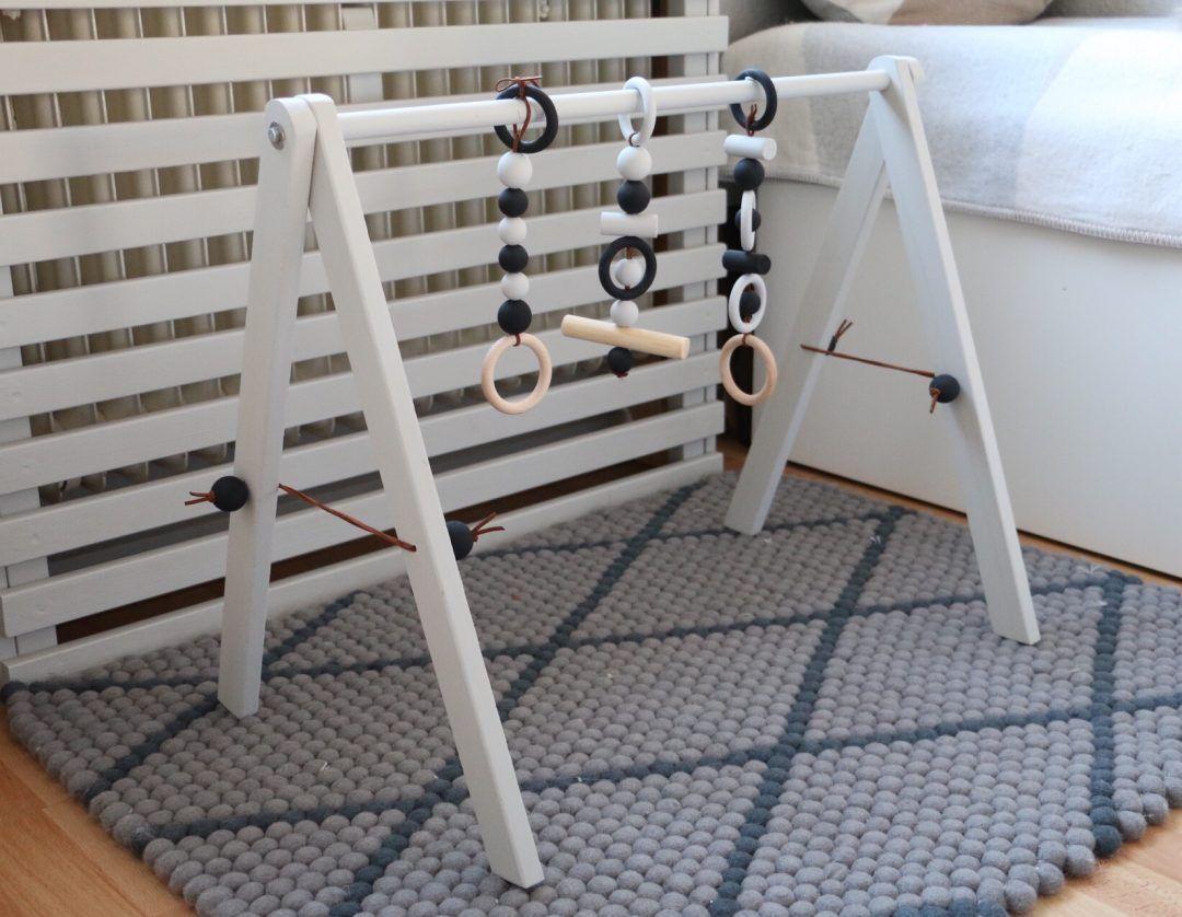 diy wooden baby gym babygym aus holz im skandinavischen design skandinavisches design. Black Bedroom Furniture Sets. Home Design Ideas