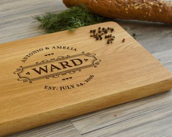 Monogram Cutting Board Personalized Gift by PegasusParchments