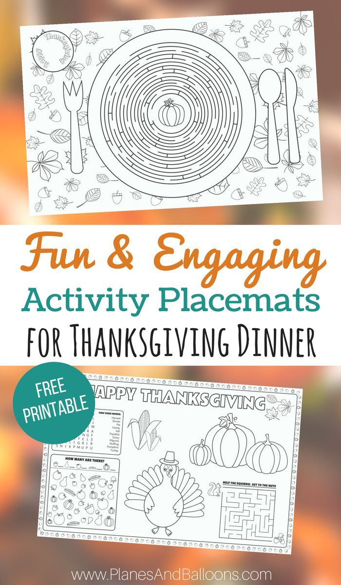 photo relating to Free Printable Thanksgiving Placemats named Printable Thanksgiving placemats for young children towards address and colour