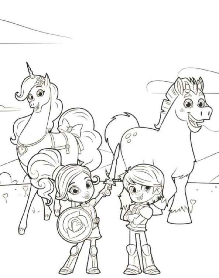 Nella The Princess Knights Coloring Pages Ausmalbilder Ritter Ausmalen Ausmalbild