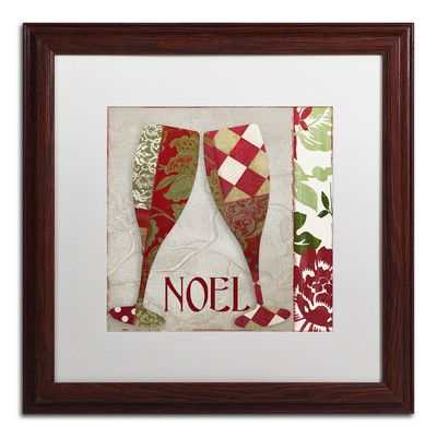 Trademark Art 'Holiday Cheer Two' by Color Bakery Framed Graphic Art