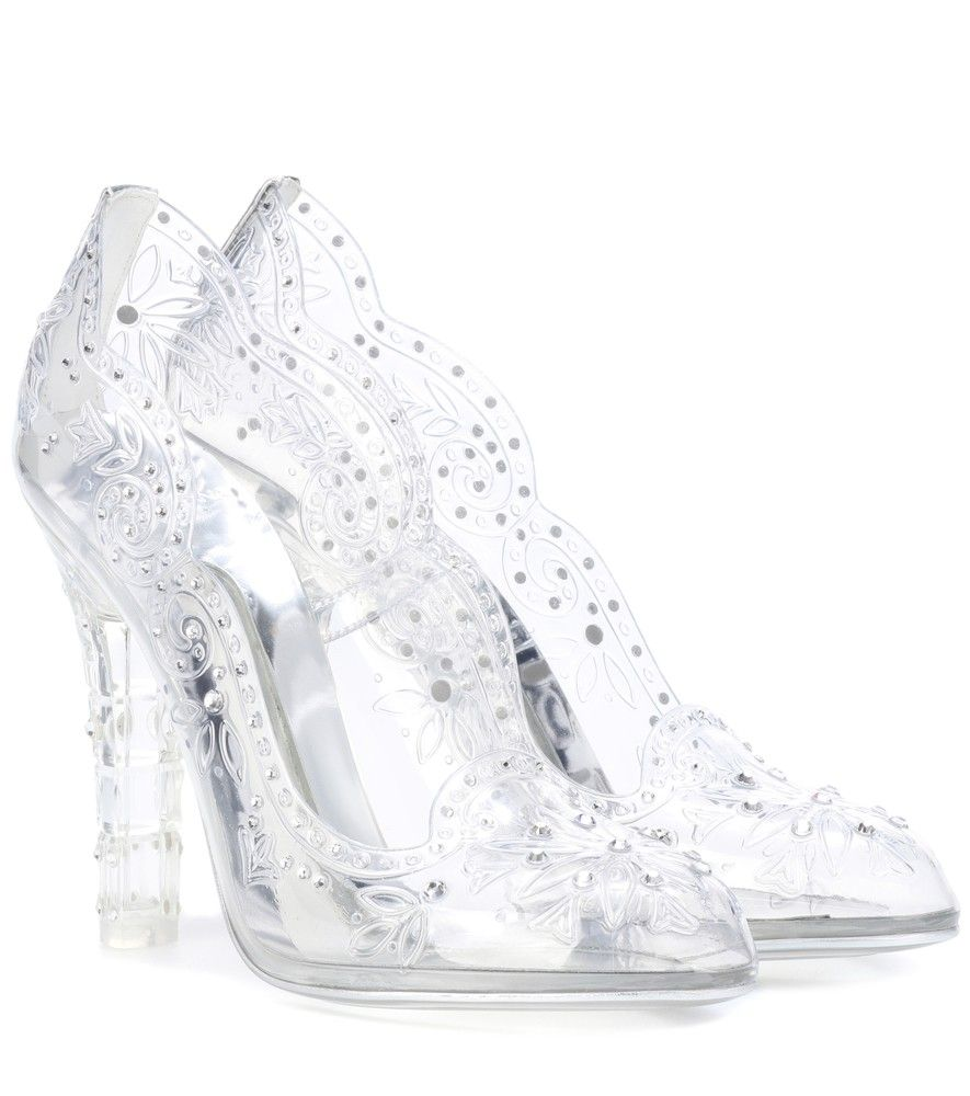Dolce   Gabbana - Cinderella embellished transparent pumps - Live out your  own fairytale in these transparent pumps from Dolce   Gabbana. 251ac1af79