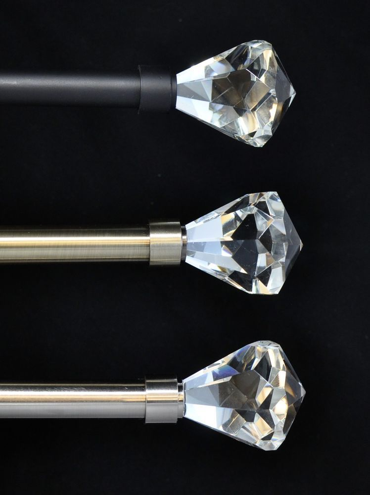 details about urbanest pierre cut crystal drapery curtain rod 3/4