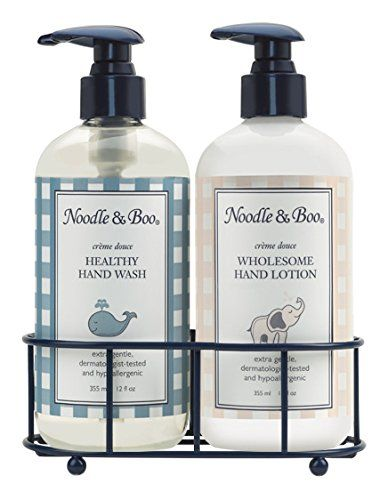 Noodle Boo Hand Sanitizer Hand Lotion Caddy Gift Set Click