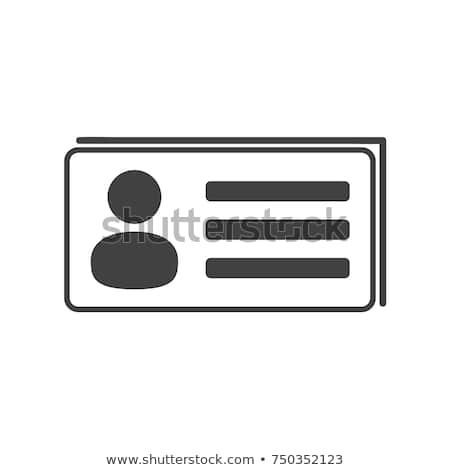 Place of business name cards, cash, symbol, sign vector