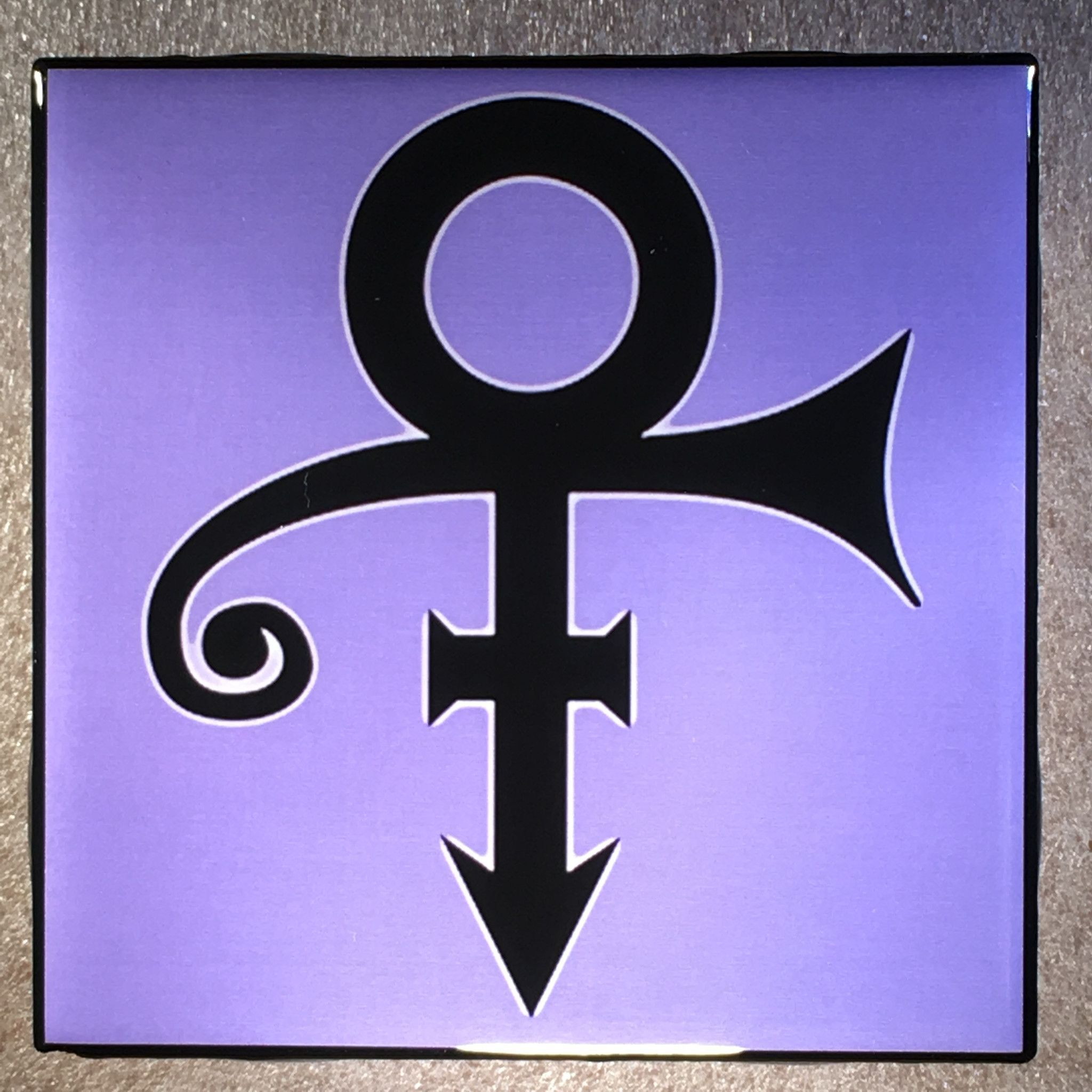 THE ARTIST FORMERLY KNOWN AS PRINCE Coaster Love Symbol Ceramic Tile in black