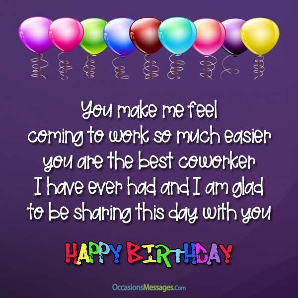 8 Best Birthday Wishes For Coworker Ideas Birthday Wishes For Coworker Birthday Wishes Birthday Quotes