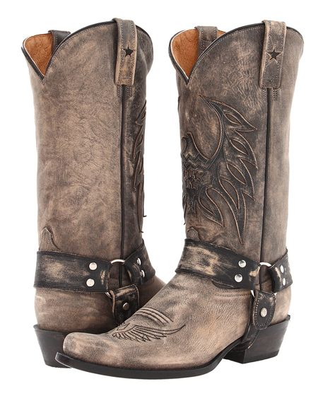 d2ab29e7257 Roper Men's Eagle Snip Toe Overlay Distressed Harness Boot | style ...