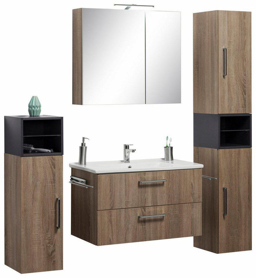 Optifit Waschtisch Set Napoli Set 10 Tlg Mit Farblich Abgesetztem Regalelement Online Kaufen Otto Waschtisch Set Waschtisch Regal