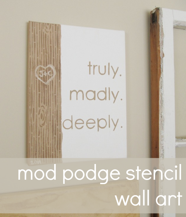 mod podge stencil wall art | Mod Podge Rocks! | Pinterest ...