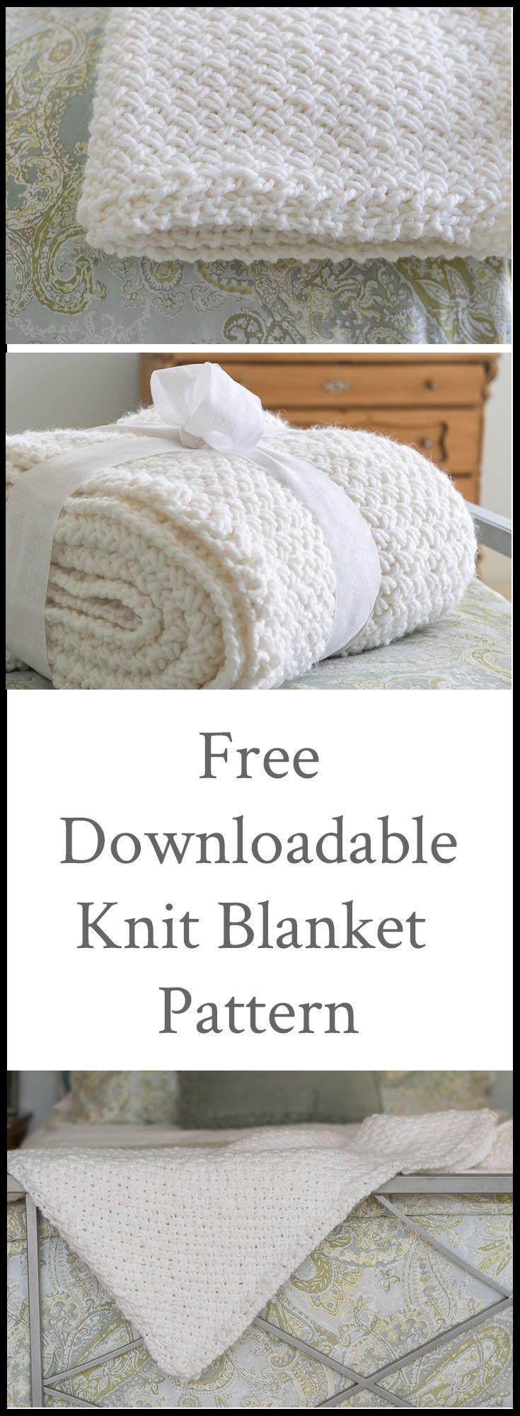 DIY Knit Blanket with Diagonal Basketweave Stitch   Knitting ...
