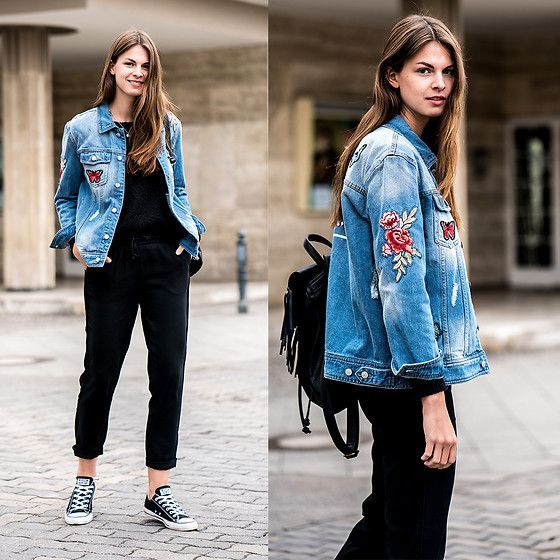 Personalised Denim Jacket (Lookbook.nu) | Denim jackets, Converse ...