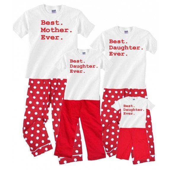 best mother daughter matching pajamas | Matching Mother Daughter ...