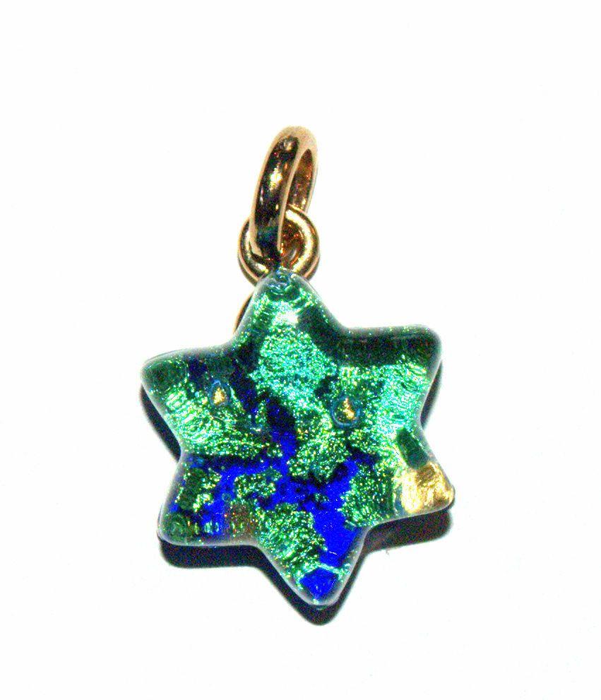 Murano glass star of david judaica pendant green navy gold sparkle murano glass star of david judaica pendant green navy gold sparkle venice italy handmade mozeypictures Choice Image