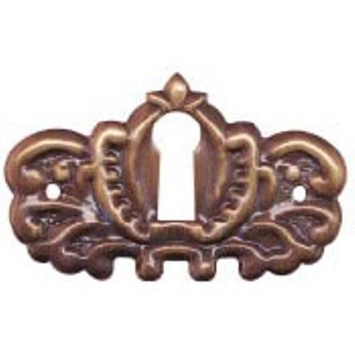 """per each Door Keyhole Cover Victorian Oval stamped  brass 1 7//8/"""" x 1 1//4/"""""""