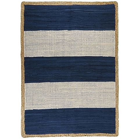 The Karur Jute Border Area Rug Will Add A Stunning Look To Any Décor Crafted In India From 100 Cotton With This Beautifully Striped