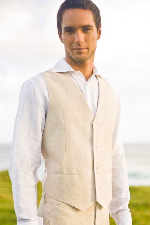 Custom Linen Monaco Suit | Grooms, Beach wedding suits and Wedding ...