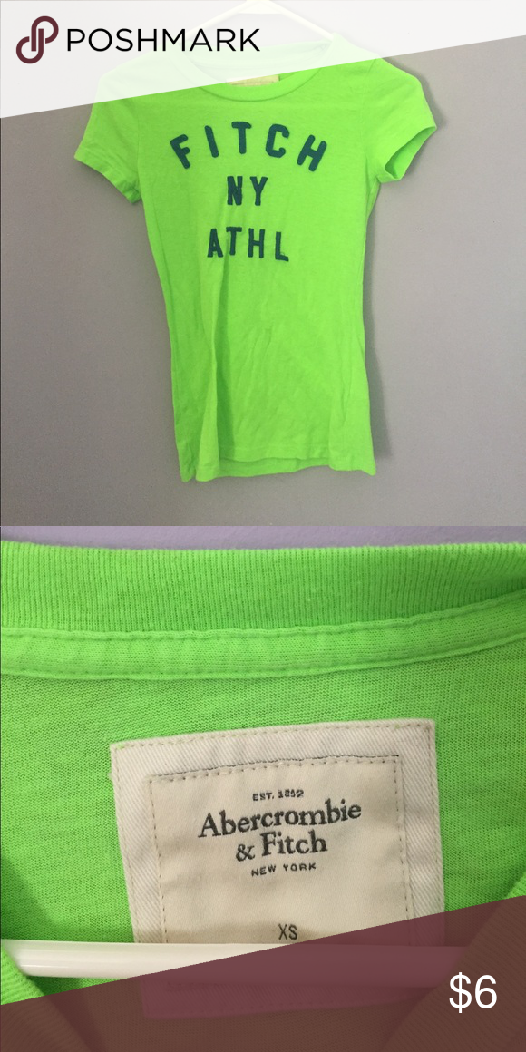 • abercrombie neon top • Great condition, make offers :) Abercrombie & Fitch Tops Tees - Short Sleeve