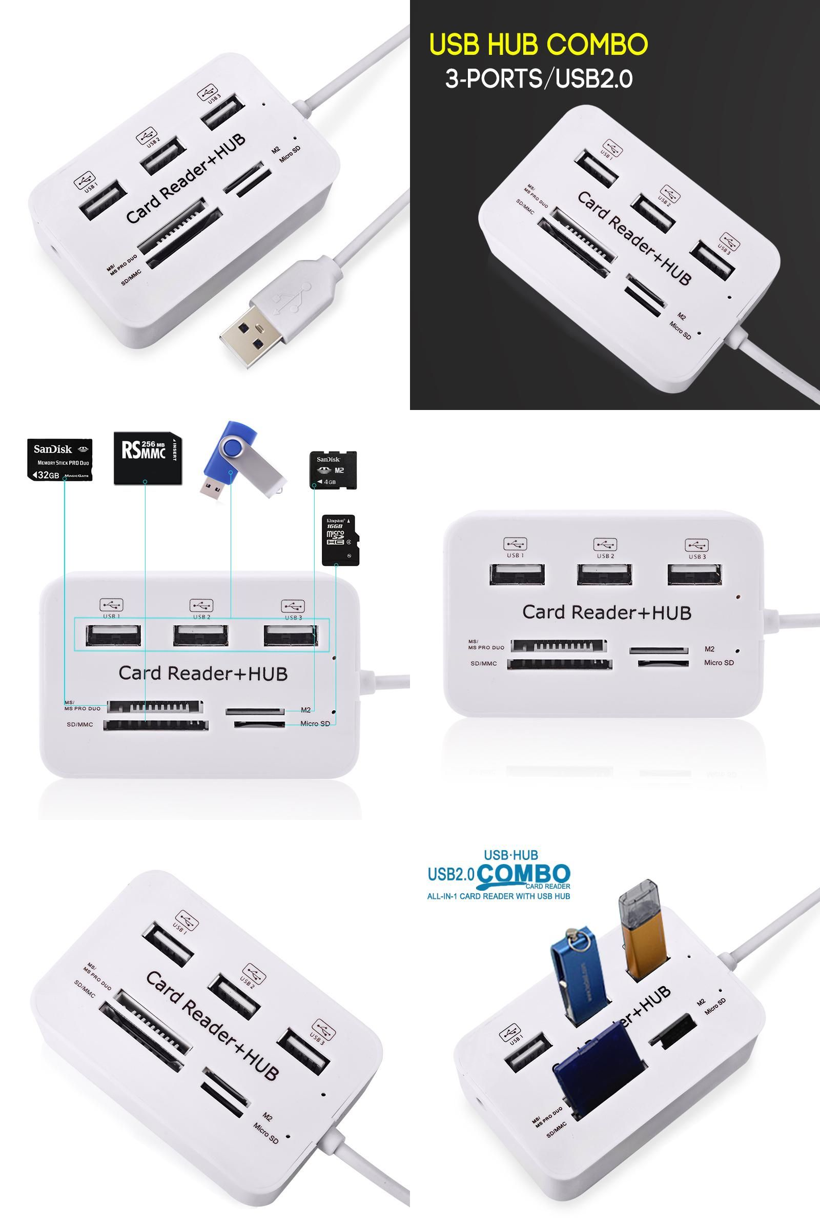 Quality Micro USB Hub Multi High Speed USB Splitter Combo Hub USB Card Reader