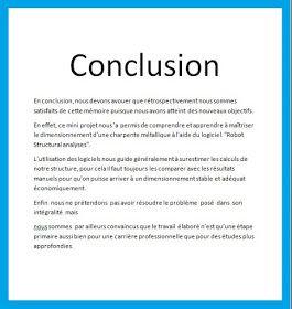 8 exemples d'introduction, remerciement et conclusion de ...