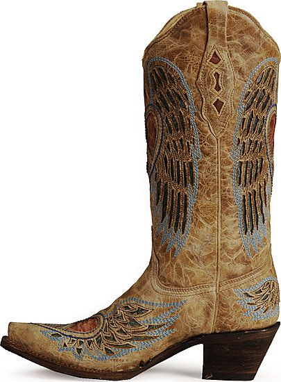 Corral Angel Wing Heart Cowgirl Boots :D