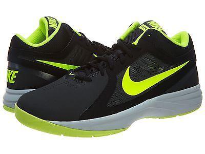 2304ea5d4bb Nike The Overplay VIII Nubuck Mens 643168-006 Black Volt Basketball Shoes S  10.5