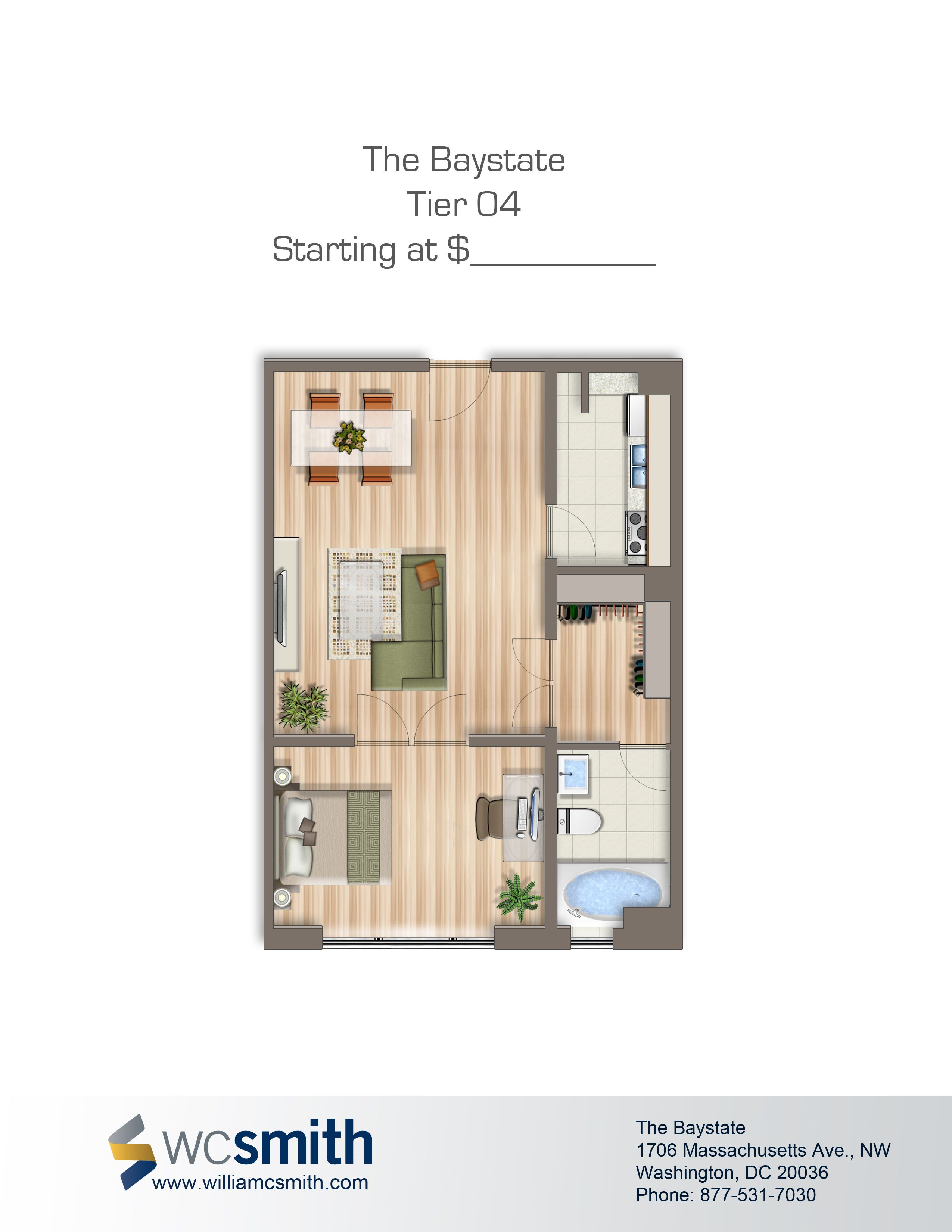Baystate apartments bedroom floor plans and washington dc - Washington dc 1 bedroom apartments ...