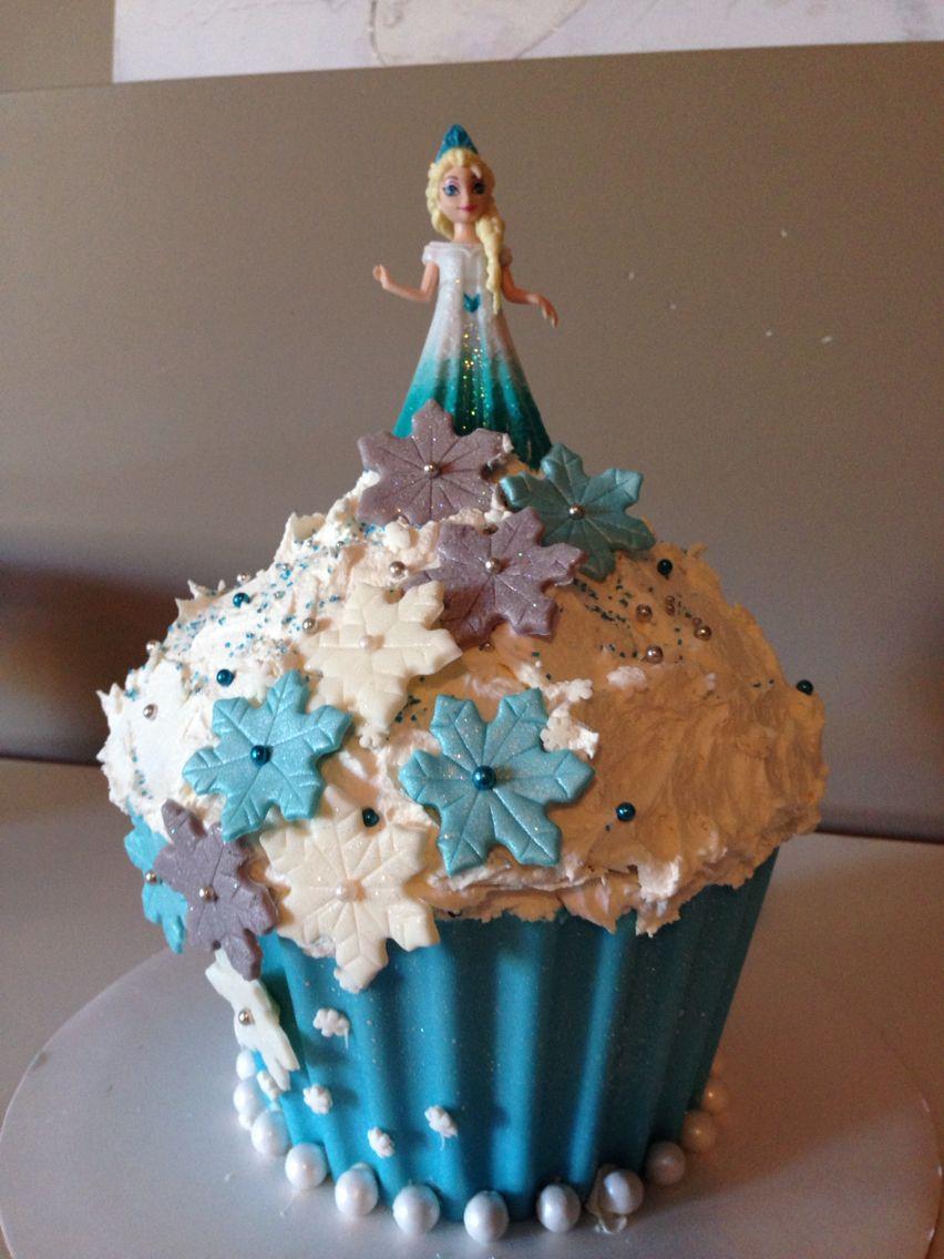 Frozen cake design images  Giant frozen cupcake  Renies Cake  Pinterest  Frozen cupcakes