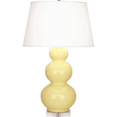 Triple Gourd Table Lamp   Butter