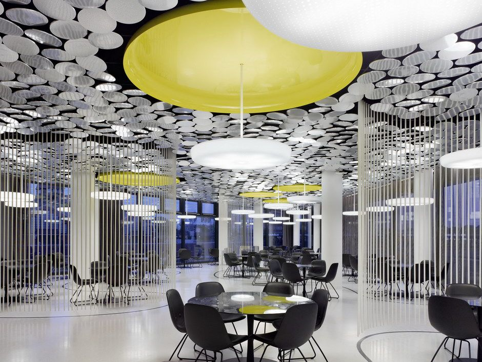 Ippolito Fleitz l3p architekten coworking space and ceilings