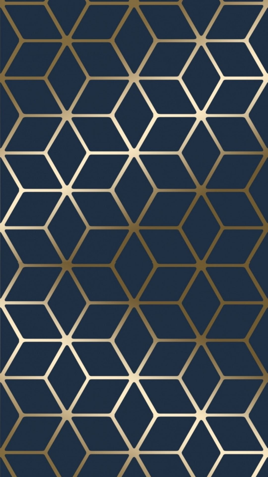 Cubic Shimmer Metallic Wallpaper Navy Blue Gold Metallic