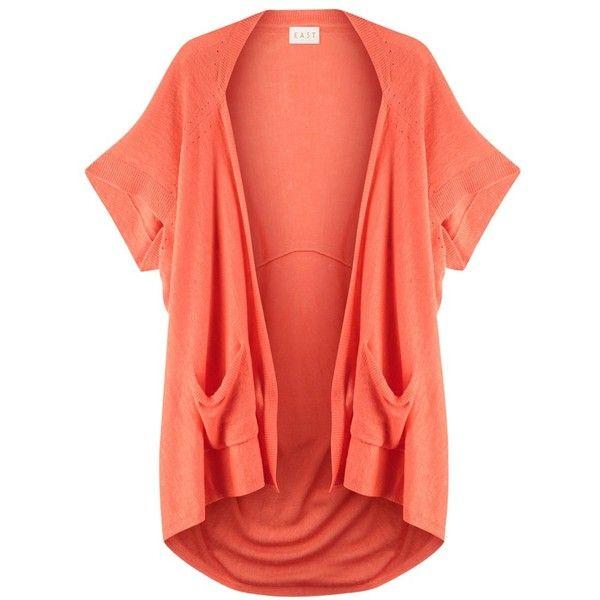 East Pointelle Cardigan, Light Orange ($75) ❤ liked on Polyvore ...