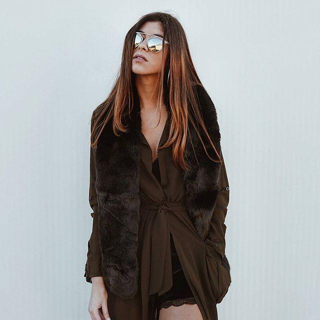 BLACK X ARMY GREEN  #outfit soon at the blog babes! #fashion#fashionblogger#fblogger #fashionblog #portugueseblogger #girlstuff#girl#instadayli #details #instagramers#vscocam#style #followforfollow#winter#armygreen#likeforlike#inspo#fauxfur #dior #inspo2you #loveit #trend #ootd #longdress #lace