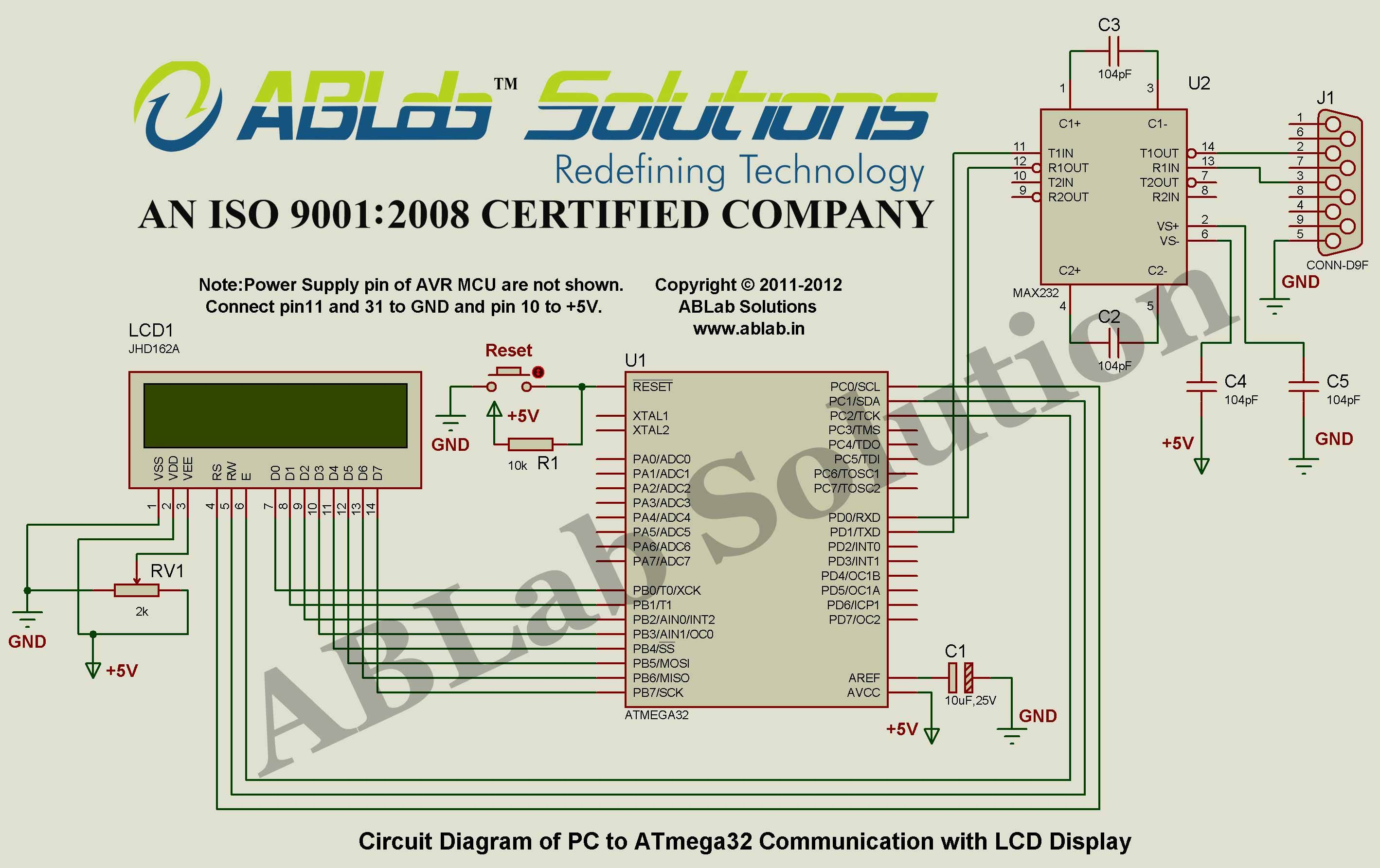 Block Diagram Lcd Display Trusted Schematics Crt Monitor Schematic Pc To Avr Atmega32 Microcontroller Communication With Zener Diode Tester Circuit