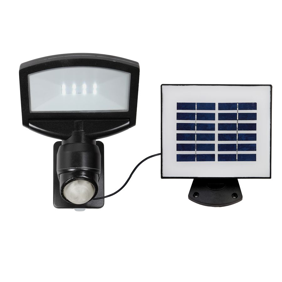 Utilitech Pro Black Solar Powered LED Motion-Activated Flood Light with Timer  sc 1 st  Pinterest & Shop Utilitech Pro 180-Degree 1-Head Black Solar Powered Led ... azcodes.com