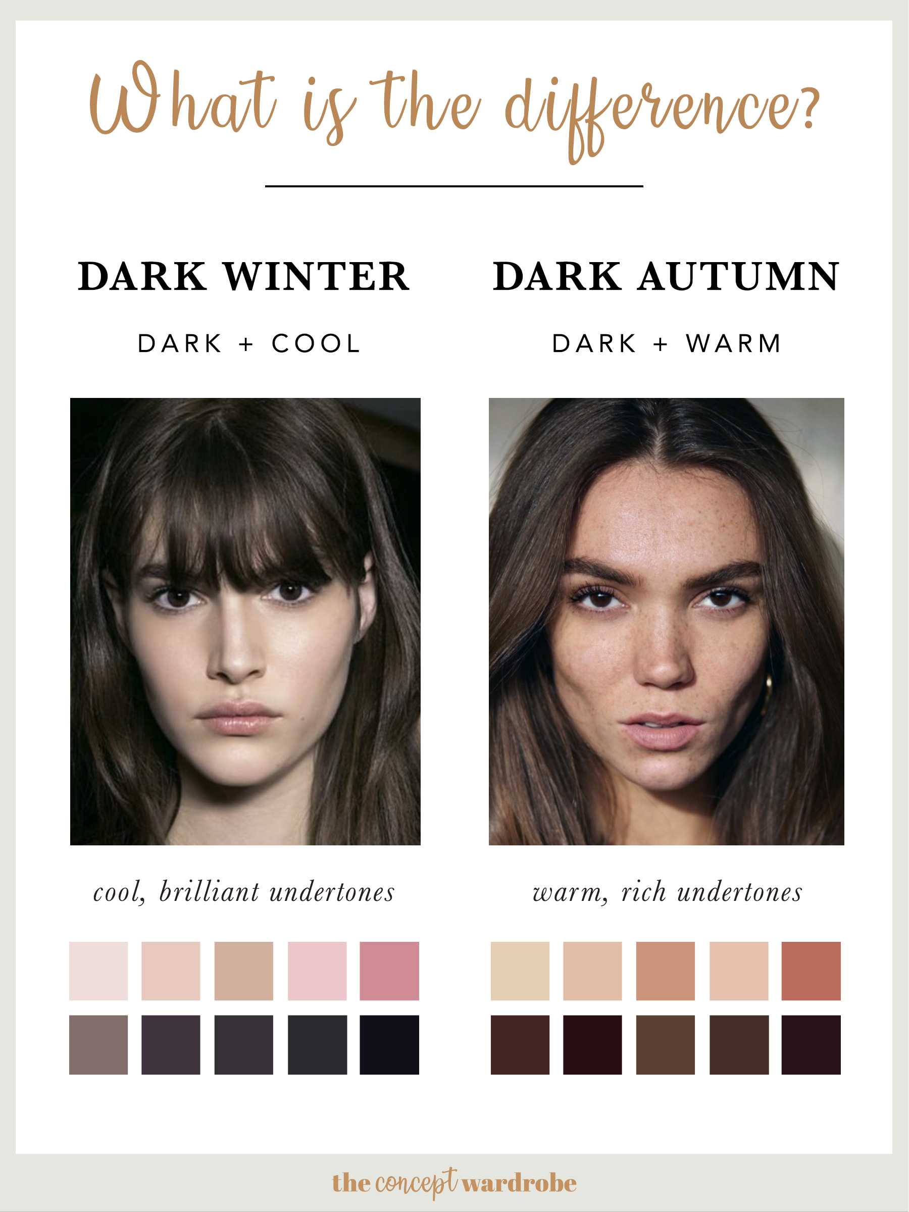 What is the difference between Dark and Dark Autumn?