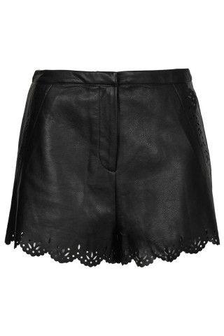 Tall Black Lazercut Shorts