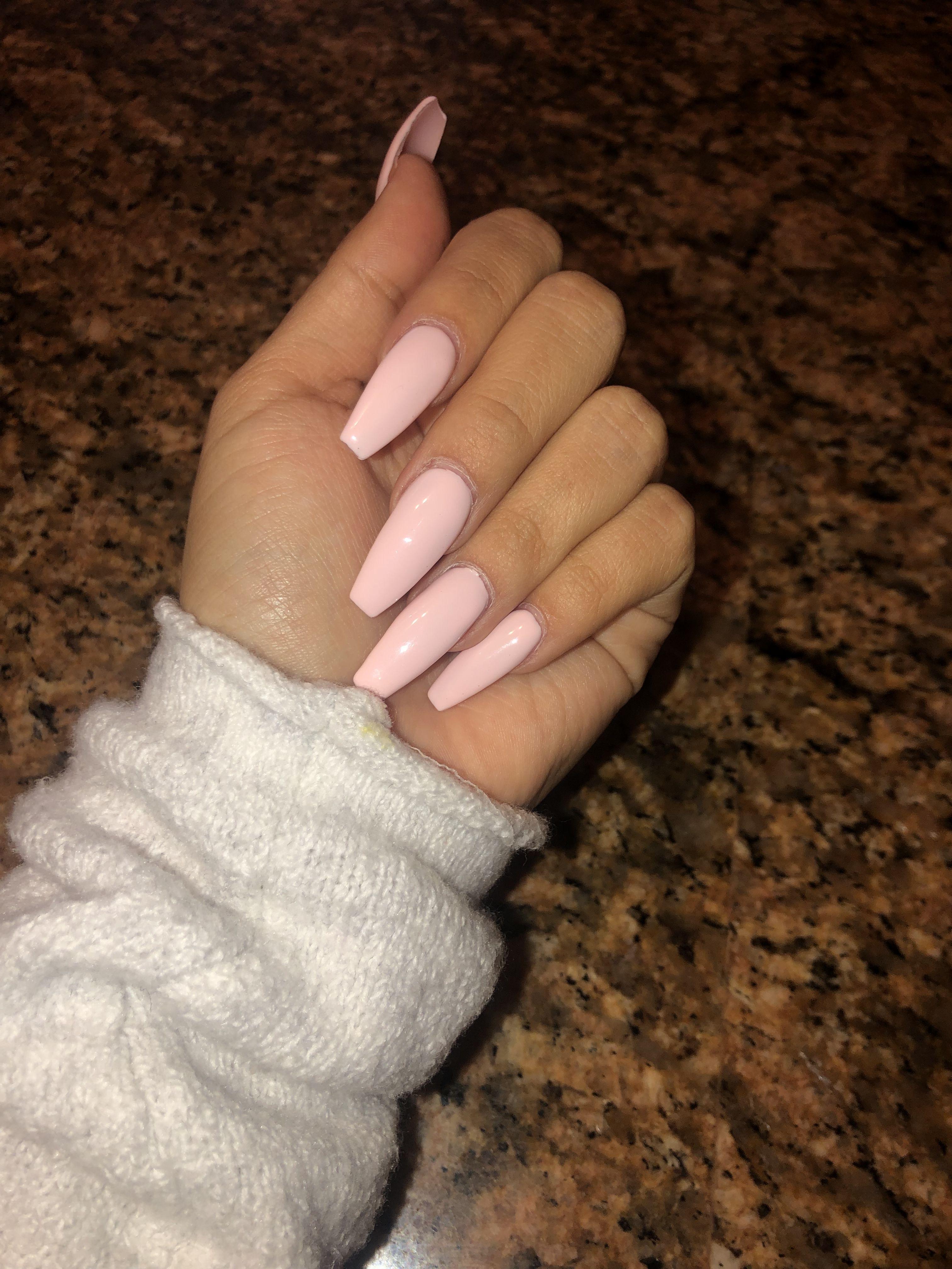 Elegant Pink Nails Acrylic Acrylicnails Longnails Pink Summernailsgel Baby Pink Nails Pink Acrylic Nails Baby Pink Nails Acrylic