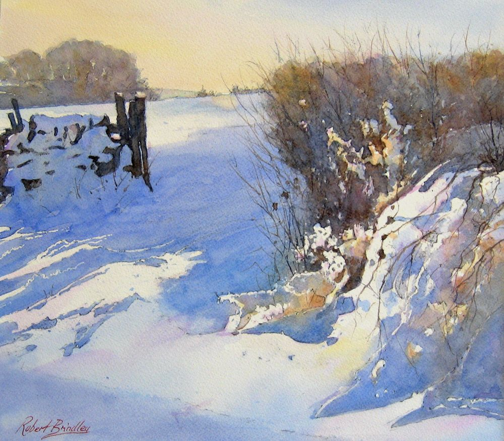 Robert Brindley In 2020 Watercolor Landscape Winter Painting