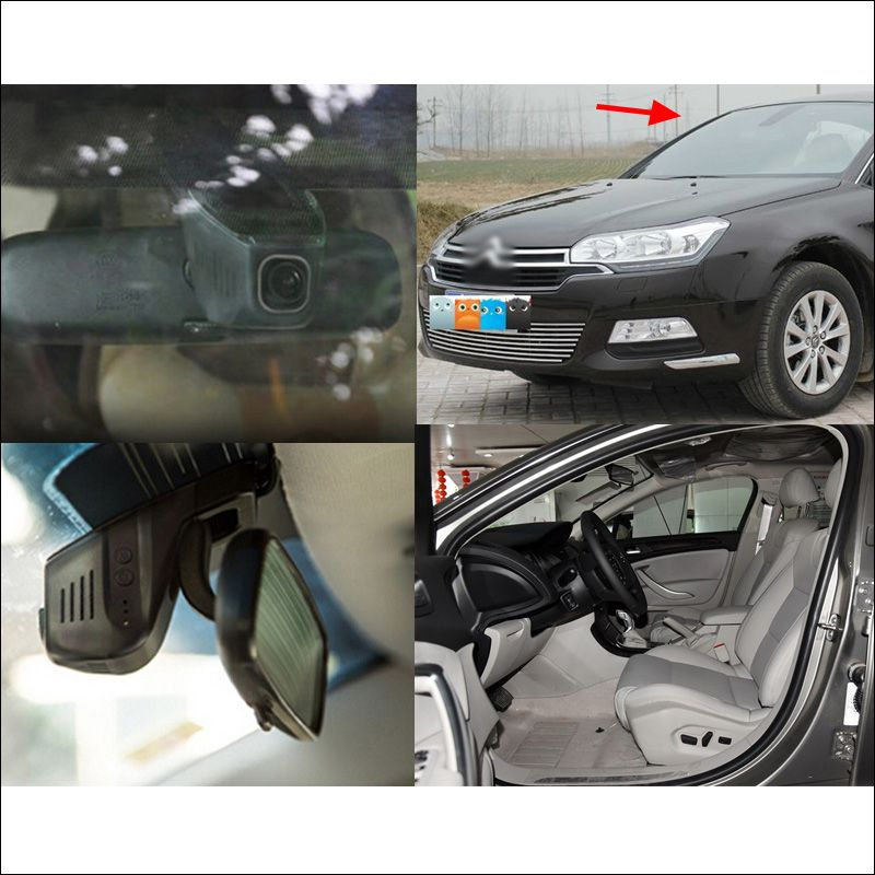 APP Control Car Wifi DVR For Citroen C5 Driving Video Recorder Hidden installation Novatek 96655 Dash Cam Car black box G-Sensor