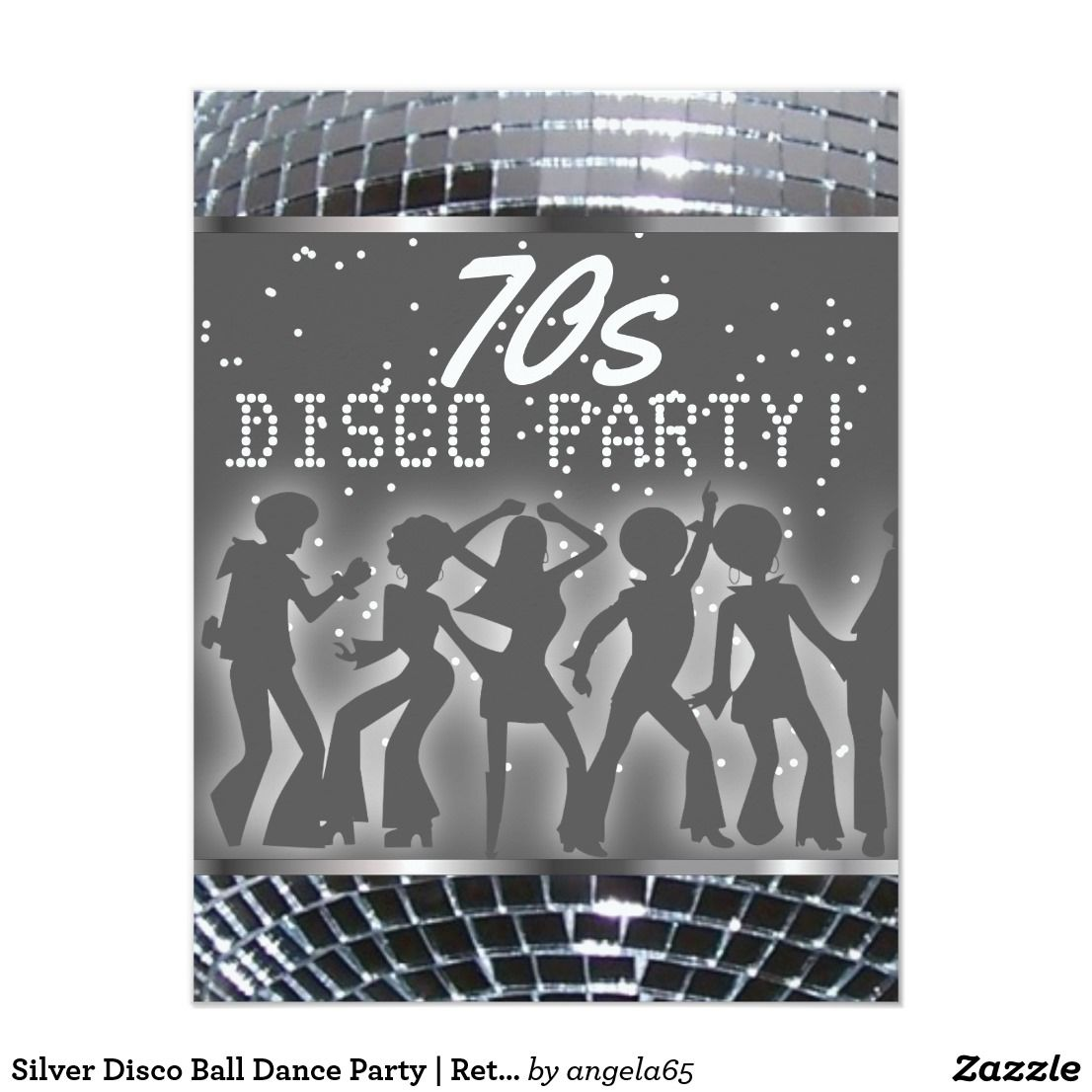 Dance Party Invitations Disco Dance 3d christmas tree card ...